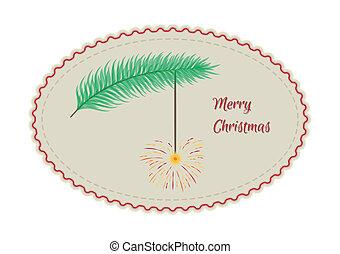 retro merry christmas sign
