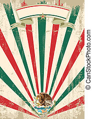 retro mexican sunbeams letter - A vintage mexican poster...