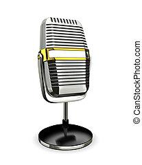retro, micrófono