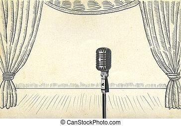 retro, microphone