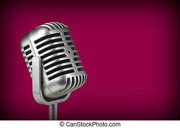 Retro microphone. ( Dynamic microphone )