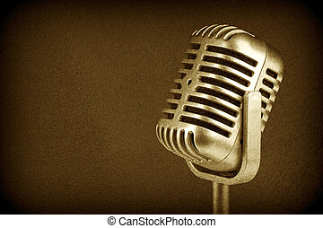 Retro microphone. ( Dynamic microphone )