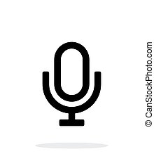 Retro microphone icon on white background.