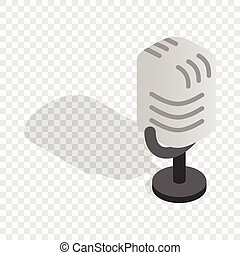 Retro microphone isometric icon