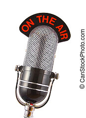 Retro Microphone - Retro microphone used for radio, talk...