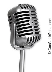 Retro Microphone isolated on white background_This is no...