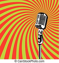 Retro Microphone vector 2 - Retro Microphone for Karaoke...