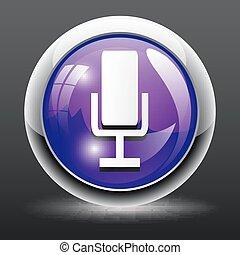 Retro microphone vector icon
