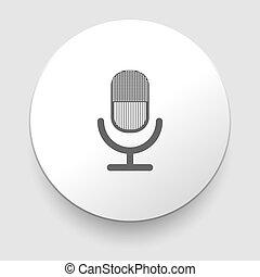 Retro microphone vector icon.