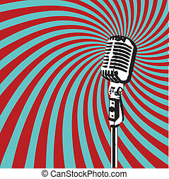 Retro Microphone vector - Retro Microphone for Karaoke ...