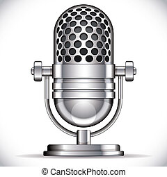 retro, microphone.