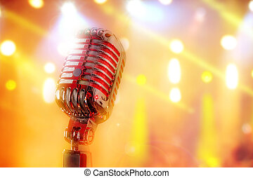 retro, mikrophon