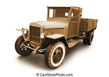 retro, militar, coche