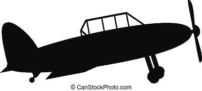 Retro military airplane icon