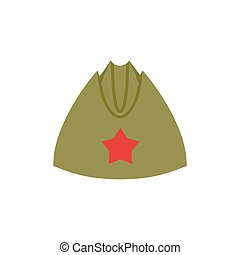 Retro military forage-cap Russian soldiers. Vintage Army cap...
