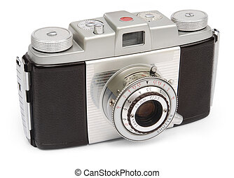retro, mirino, macchina fotografica