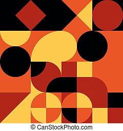 retro, modèle, seamless, vecteur, design., résumé, géométrique