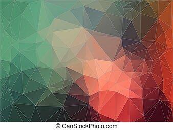 retro, model, shapes., geometrisch