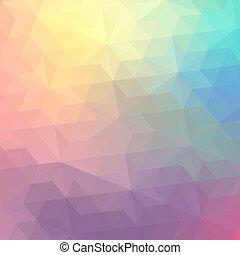 retro, model, van, geometrisch, shapes., kleurrijke,...