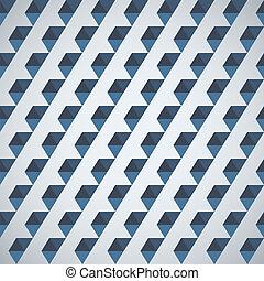 retro, model, van, geometrische vormen, helft, zeshoek
