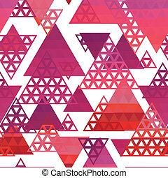 retro, modello, di, forme geometriche