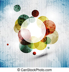Retro modern abstraction in color. Abstract Vector Background