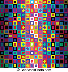 Retro Modern Op Art Pattern - Seamless Background