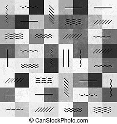 Retro monochrome vintage seamless pattern with lines