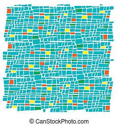 retro mosaic background - abstract illustration