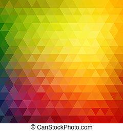 retro, mosaico, modello, di, geometrico, triangolo, forme