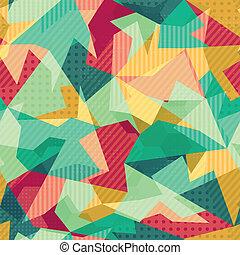 retro, mosaico, seamless, padrão