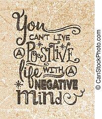 Retro motivational positive quote.