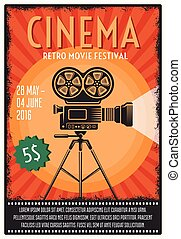 Retro Movie Festival Poster - Retro movie festival poster ...