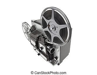 Retro Movie Projector Isolated