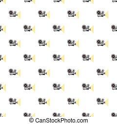 Seamless cinema pattern  movie projector  Seamless retro cinema