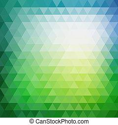 retro, mozaïek, model, van, geometrisch, driehoek, gedaantes