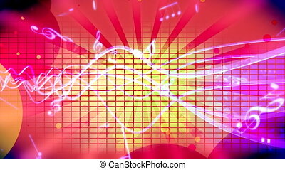 Retro Music Animated Background Loop - Looping Animated...
