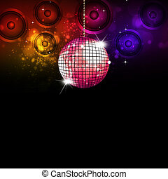 Retro Music Ball Disco Background