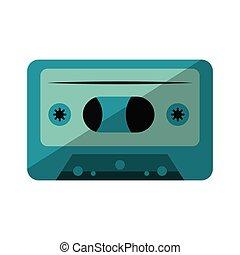 retro music cassette device isolated