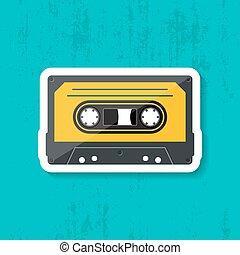 Retro music cassette tape icon