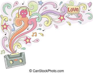 Retro Music Doodle