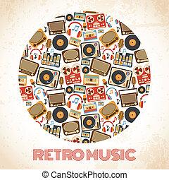 retro, musica, manifesto