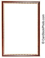 retro narrow dark brown picture frame