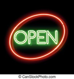 Retro Neon sign Open
