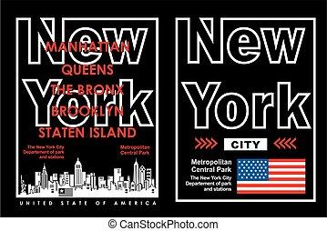 Retro New York, Vector. - Retro New York Typography design...