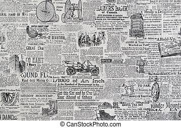 Retro newspaper. - Retro grunge paper, paper texture for...