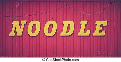 Retro Noodle Bar Sign