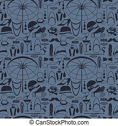 Retro of 1920s style seamless pattern.