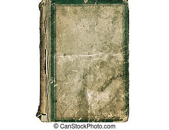 Retro old cover of book isolated on a white background