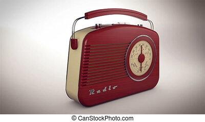 """Retro old radio receiver."" - ""3d rendering of Retro old..."
